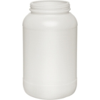 1 Gallon Natural HDPE Plastic Wide Mouth Jar, 110mm 110-400, 159 Grams