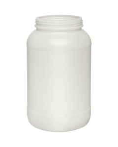 1 Gallon Natural HDPE Plastic Wide Mouth Jar, 110mm 110-400