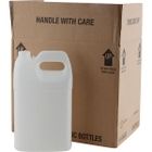 1 Gallon Natural HDPE Plastic F-Style Bottle, 38mm 38-400, 4x1 Reshipper Box, UN Rated