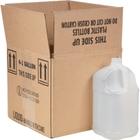 1 Gallon Natural HDPE Plastic Square Jug, 38mm 38-400, UN Rated, 120 Grams, 4x1 Reshipper Box