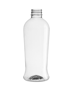 32 oz. Clear PET Plastic Tamper Evident Round Bottle, 38mm 38-PANO