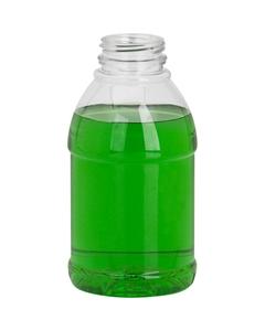 12 oz. Clear PET Plastic Tamper Evident Bullet Round Bottle, 38mm 358DBJ