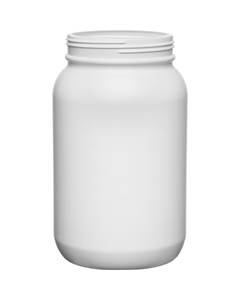 1 Gallon White HDPE Plastic Wide Mouth Jar, 120mm 120-400, 120 Grams