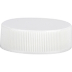 33mm 33-400 White Ribbed (Smooth Top) Plastic Cap, Unlined