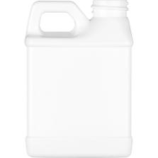 8 oz. White HDPE Plastic F-Style Bottle, 28mm 28-400