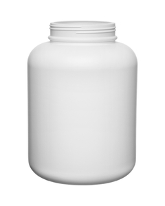 1.8 Gallon White HDPE Plastic Wide Mouth Jar, 120mm 120-400, 230 Grams
