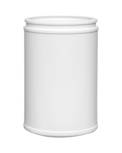 10 oz. White HDPE Plastic Canister, 63mm Snap Thread