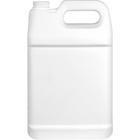 1 Gallon Fluorinated Level 5 White HDPE Plastic F-Style Bottle, 38mm 38-400