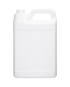 1 Gallon White HDPE Plastic F-Style Bottle, 38mm 38-400