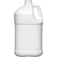 1 Gallon White HDPE Plastic Square Jug, 38mm 38-400, 120 Grams