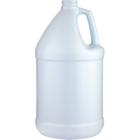1 Gallon Fluorinated Blue/White HDPE Plastic Round Jug, 38mm 38-400, 120 Grams