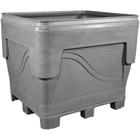 ArmorBin® 7051, 340 Gallon Heavy Duty Bin, 4-Way Replaceable Base (Gray)
