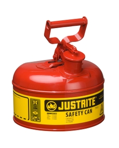 1 Gallon, Type I Safety Can w/Self-Close Lid for Flammables, Red (Multi-Lingual)