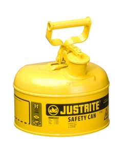 1 Gallon, Type I Safety Can w/Self-Close Lid for Flammables, Yellow (Multi-Lingual)