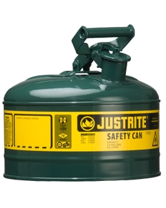 1 Gallon, Type I Safety Can w/Self-Close Lid for Flammables, Green