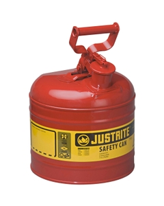 2 Gallon, Type I Safety Can w/Self-Close Lid for Flammables, Red