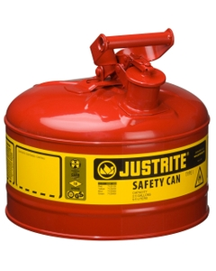 2.5 Gallon, Type I Safety Can w/Self-Close Lid for Flammables, Red (Multi-Lingual)