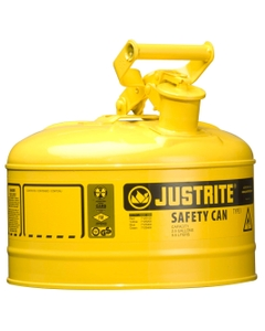 2.5 Gallon, Type I Safety Can w/Self-Close Lid for Flammables, Yellow