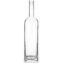 750 ml Clear Glass Arizona Liquor Bottle, Bar Top, 12/cs
