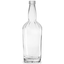 750 ml Clear Glass Jimmy Lee Liquor Bottle, Bar Top, 6/cs