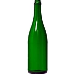 750 ml Emerald Green Champagne Bottles, 12/cs