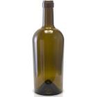 750 ml Antique Green Bordeaux Wine Bottles, Punted Bottom, Cork (Bartop), 12/cs