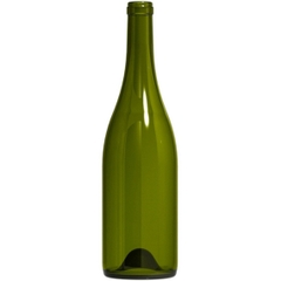750 ml Antique Green Burgundy Wine Bottles, Punted, Cork, 12/cs, ECO-Series®