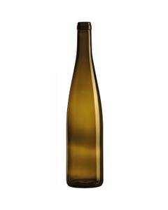 750 ml Antique Green Stretch Hock Wine Bottles, Cork 12/cs