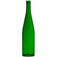 750 ml Champagne Green Stretch Hock Wine Bottles, Cork 12/cs