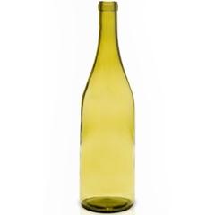 750 ml Dead Leaf Green Burgundy Wine Bottles, Cork, 12/cs