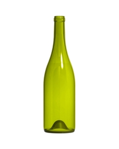 750 ml Dead Leaf Green Burgundy Wine Bottles, Punted, Cork, 12/cs