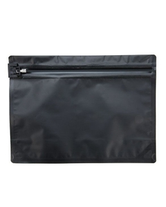 "12"" x 9"" Black Child Resistant Barrier Bag, Push Release"