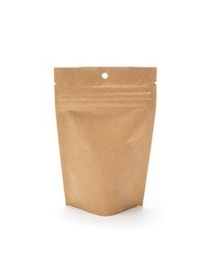 """4"""" x 2-1/2"""" x 6"""" Kraft Child Resistant Barrier Bag, Zipper Pouch"""