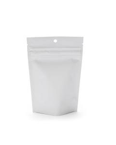 """4"""" L x 2-1/2"""" W x 6"""" H White Child Resistant Barrier Bag, Zipper Pouch"""