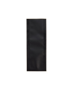 """4"""" x 1-1/2"""" Black Child Resistant Single Use Barrier Bag, Open Top closed"""