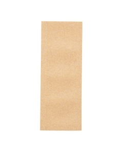 "4"" x 1-1/2"" Kraft Child Resistant Single Use Barrier Bag, Open Top"