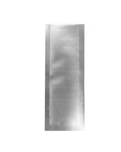 """4"""" x 1-1/2"""" Silver Child Resistant Single Use Barrier Bag, Open Top"""