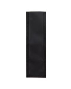 "5"" x 1-1/2"" Black Child Resistant Single Use Barrier Bag, Open Top"