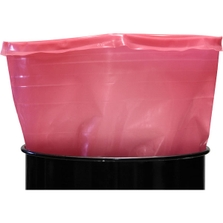 30 Gallon 15mil LDPE Straight Sided Anti-static Drum Liner