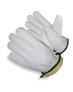 White Goatskin Drivers Work Gloves, Cut Resistant