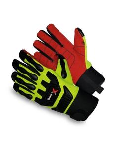 Neon Green/Black Armortex Anti-Impact Oilfield Work Gloves, Cut Resistant