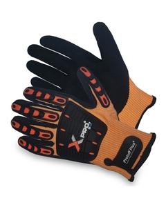 Orange/Black Micropor NBR Coating Anti-Impact Oilfield Work Gloves, Cut Resistant