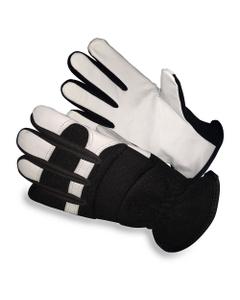 White/Black Goatskin Mechanics Work Gloves