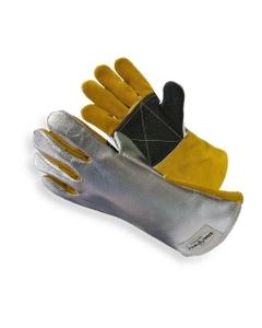 Silver Cowhide Welding Work Gloves, Cut Resistant