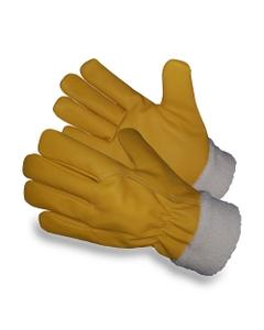 Yellow Cowhide Winter Work Gloves