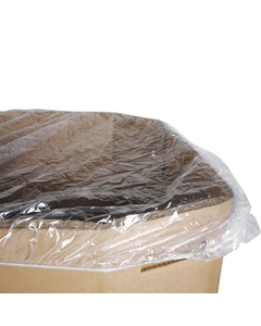 """65"""" x 65"""" LDPE Clear Elastic Bound Cover for Gaylord, 4 mil, 25/pk"""