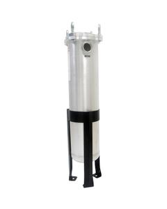 """Size #2 (30"""" Basket Depth) Aluminum Filter Vessel, 2"""" NPT, Bottom Outlet, DP Ports"""