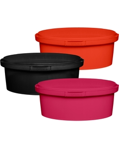 8 oz. (250 ml) PP Round Tamper Evident Container, 110mm 110-TE