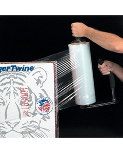 "90 Gauge - 15"" x 1500' Clear Blown Stretch Wrap Film, 4/pk"