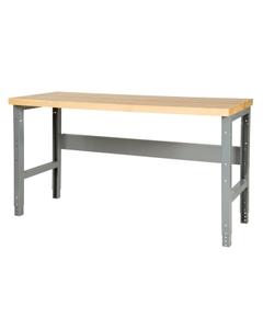 "72"" x 24"" Wood Top Workbench - Adjustable Height"